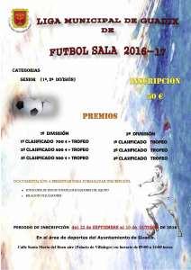 CARTEL LIGA FUTBOL SALA 2016-2017