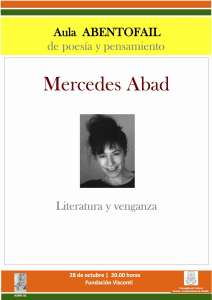 Cartel Mercedes Abad
