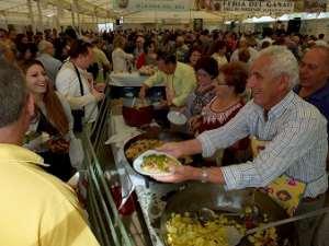 La gastronomía forma parte de la feria